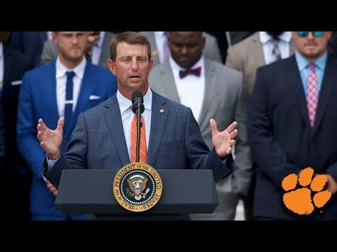 5 Leadership Secrets Shared By Clemson S Dabo Swinney During His White House Speech Inc Com Clemson White House Visit Clemson Fans