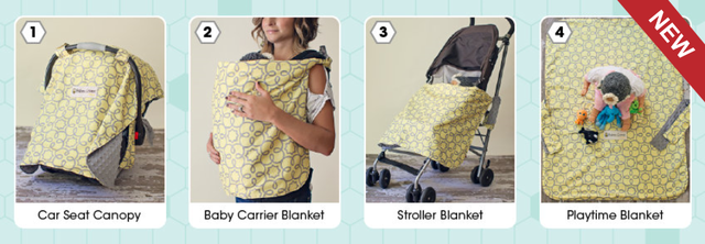 Babee Covee Classic - 4 in 1 convertible baby blanket