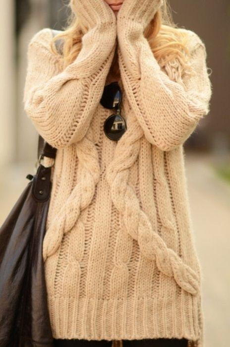 cozy sweater dress.