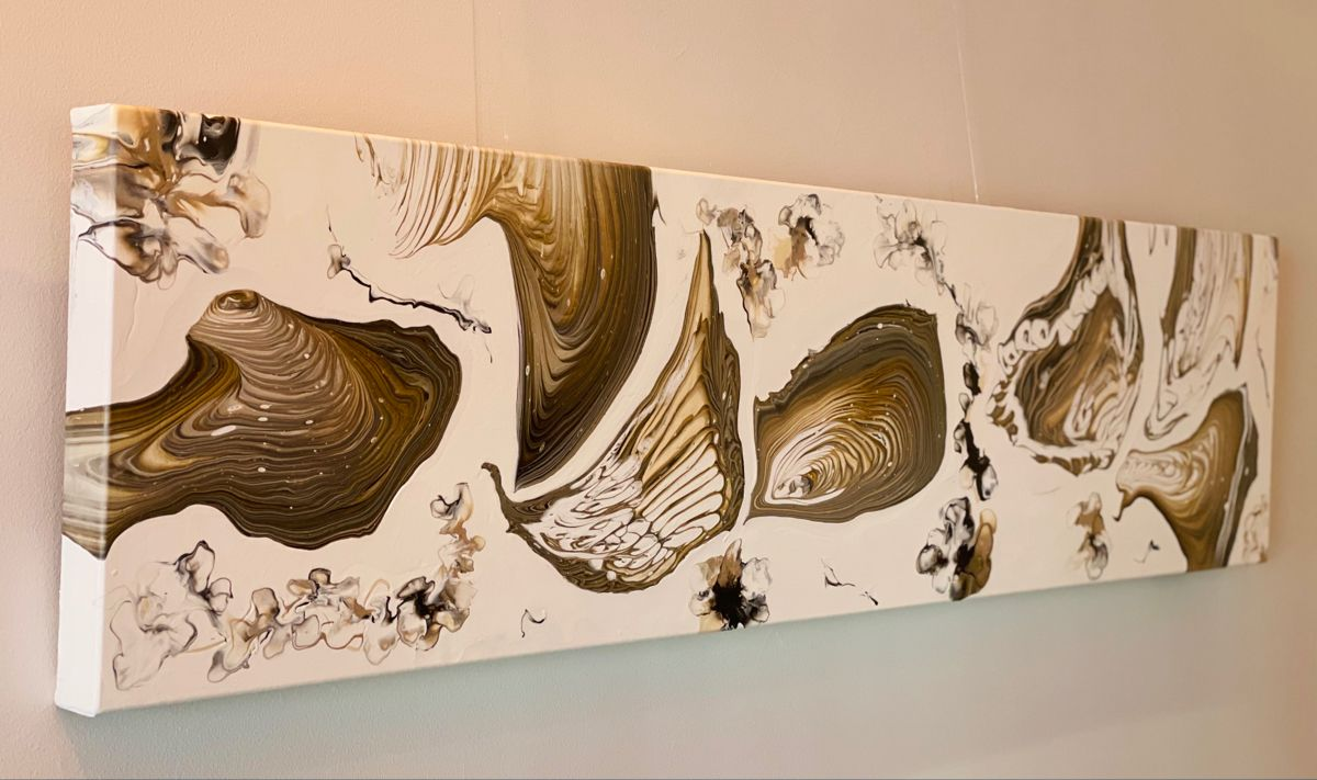acryl auf leinwand brown swirl ii in 2021 unique items products pouring art etsy gift card 80x60 foto klein