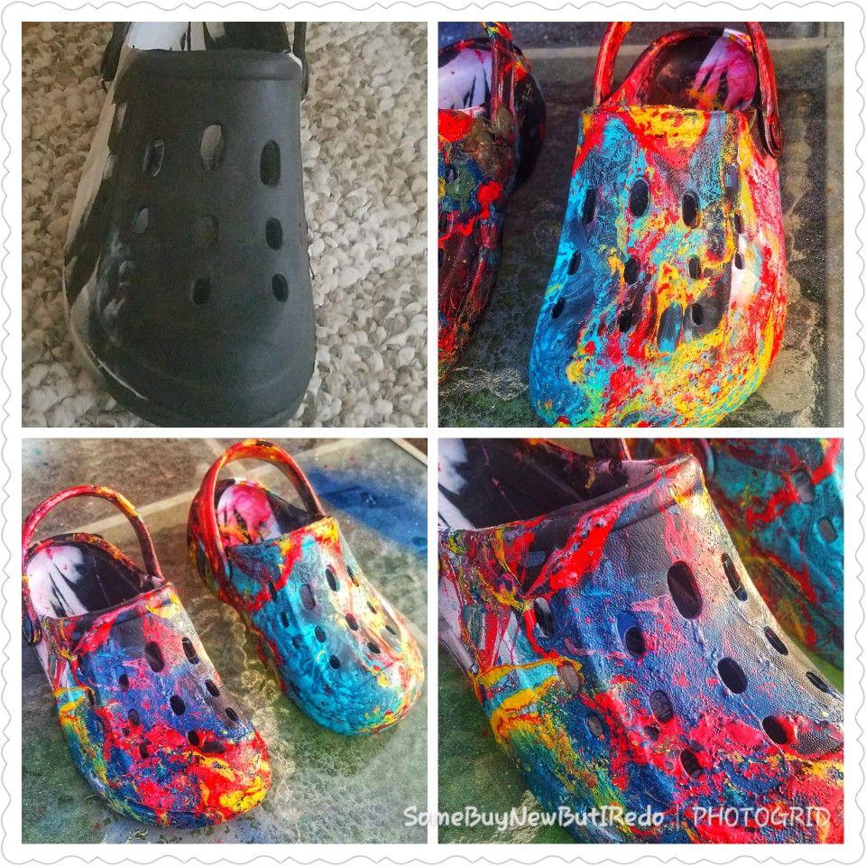 Hydro Dip Rainbows Unicorns Spray Paint Shoes Hydro Painting Hydrodipping Diy Diy Hydro Dipping