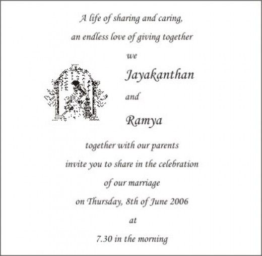 Wording for wedding invitations for civil ceremony google search personal wedding invitation matter for friends in telugu wedding card wordings clickandseeworld is all about funnyamazing stopboris Image collections