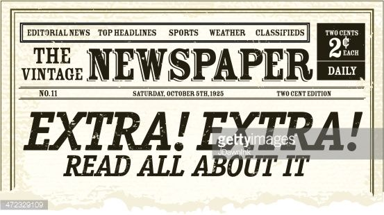 Vector Illustration Of A Front Page Of An Old Newspaper With Torn Vintage Newspaper Newspaper Newspaper Design
