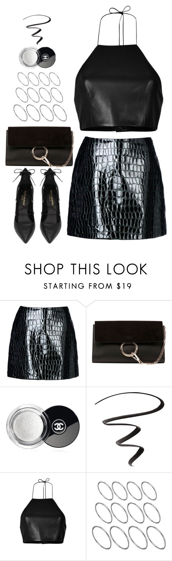 """Untitled#4483"" by fashionnfacts ❤ liked on Polyvore featuring Jolie By Edward Spiers, Yves Saint Laurent, Chloé, Chanel, L'Oréal Paris, rag & bone and ASOS"