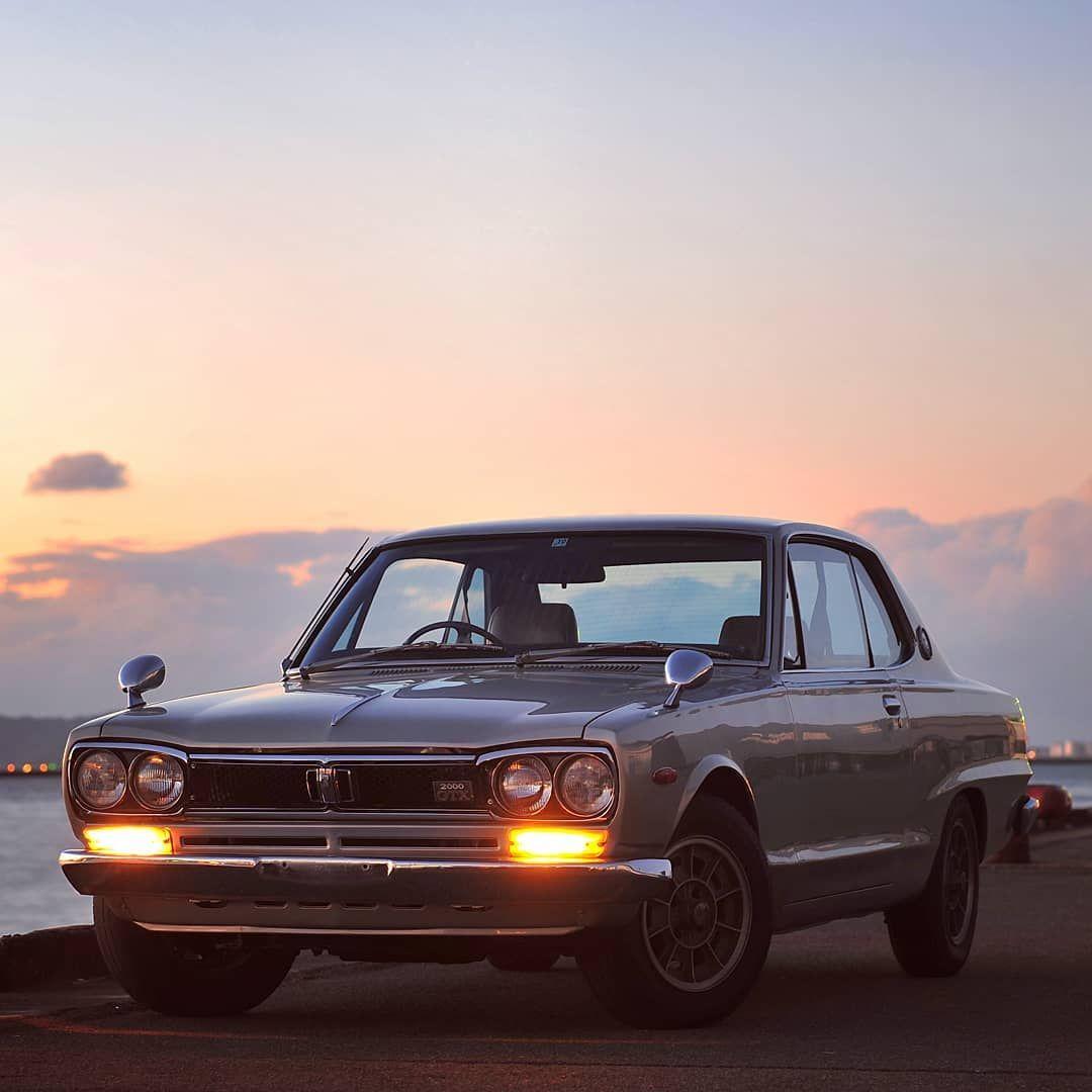 🔴 Sunset. JDM real masterpiece 🚗 1972 Nissan Skyline ...  1972 Nissan Skyline Jdm