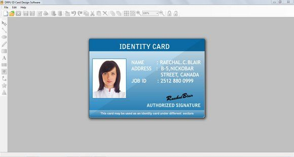 Rogdai Info Software Details For Id Card Designing 7 3 0 1 Employee Id Card Id Card Template Speech Language Activities