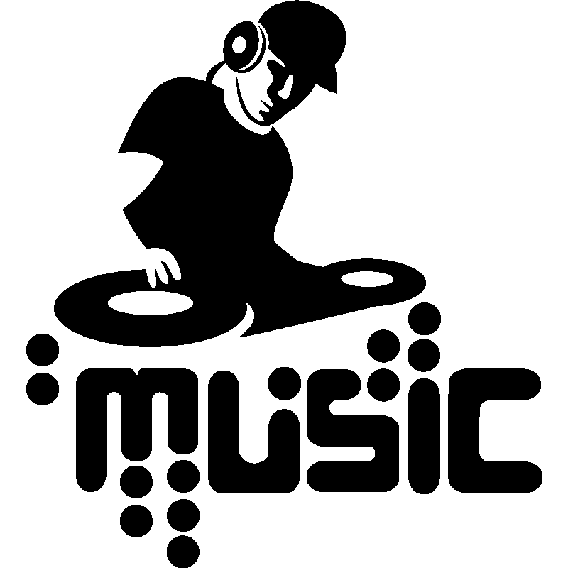 Sticker Silhouette Dj Music School Bastelideen