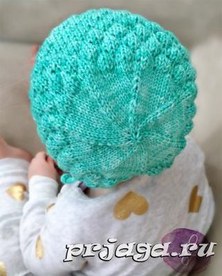 шапочка чепчик спицами для малыша вязание шапочка детское