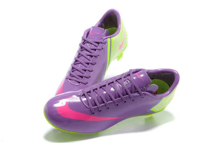 new style c12c0 2c625 Nike Mercurial Vapor X FG Cleats - Medium Purple Hot Pink Fluorescent Green  New Soccer Shoes 2013-I NEED THESE CLEATS!