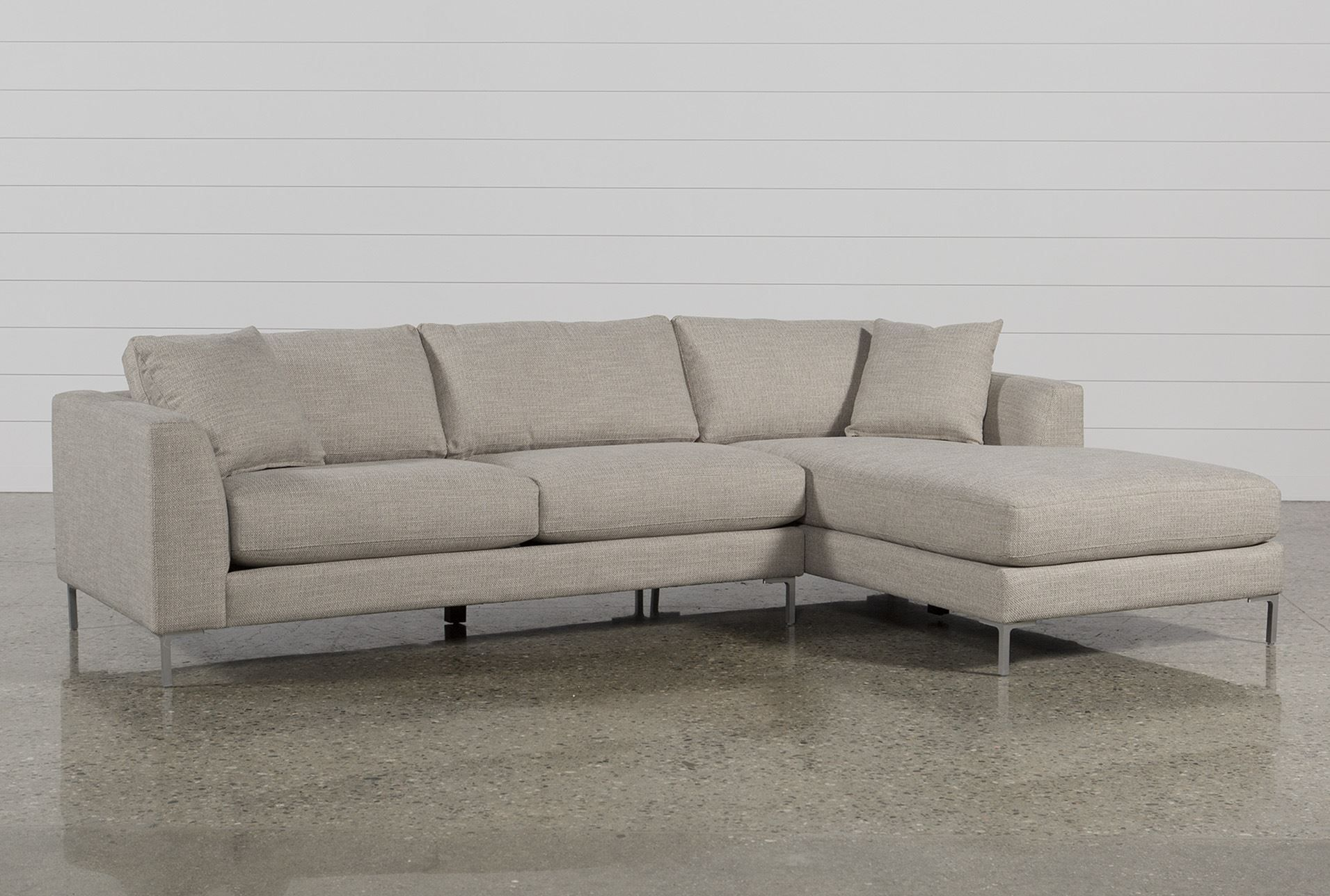 High Quality Stella 2 Piece Condo Sectional W/Raf Chaise   Signature