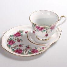 Spring Garland Teacup w/ Saucer