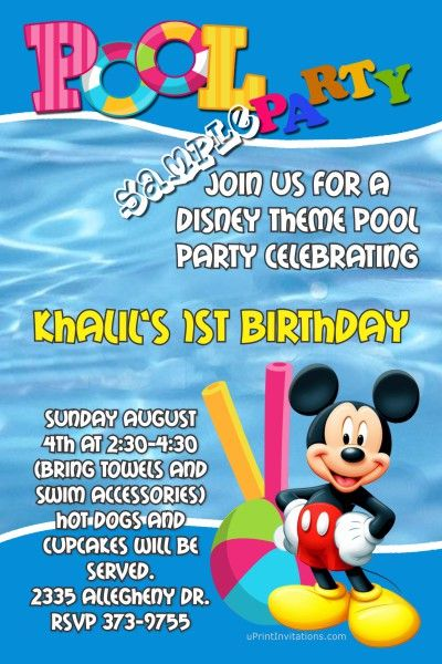 Pin By Tijanay Jackson On Khalil Birthday Pool Party Invitations Pool Birthday Party Pool Party Invitation Template