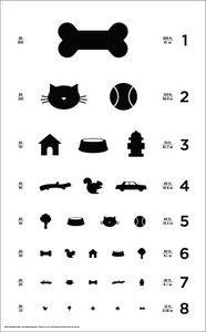 12 X 18 Dog Eye Chart Classic Size Poster Dog Cat Stuff Dog