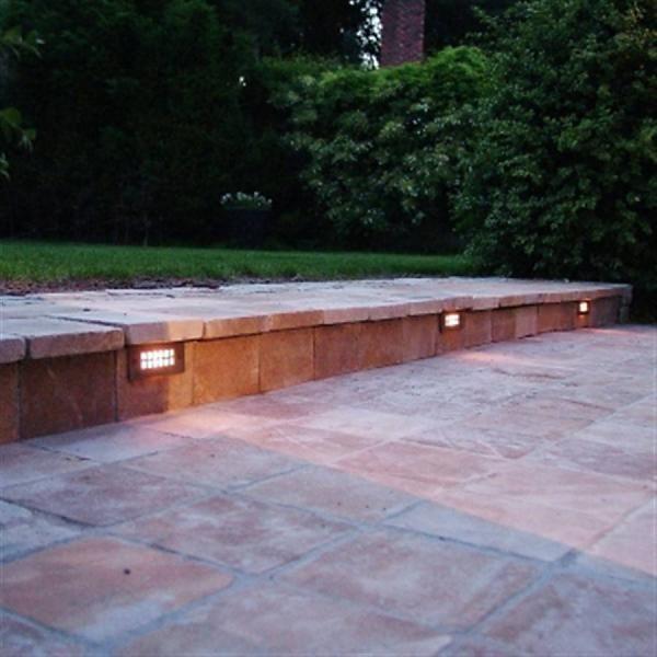 buitenverlichting terras inbouw brons geborsteld nikkel of chroom