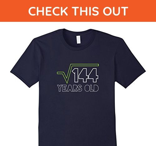 Mens Square Root Of 144 T Shirt 12th Birthday 12 Years Old Gift Medium Navy