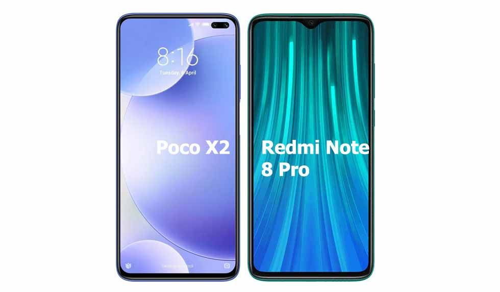 Poco X2 Vs Redmi Note 8 Pro Comparison Of Features And Specs Comparison Finger Print Scanner Note 8