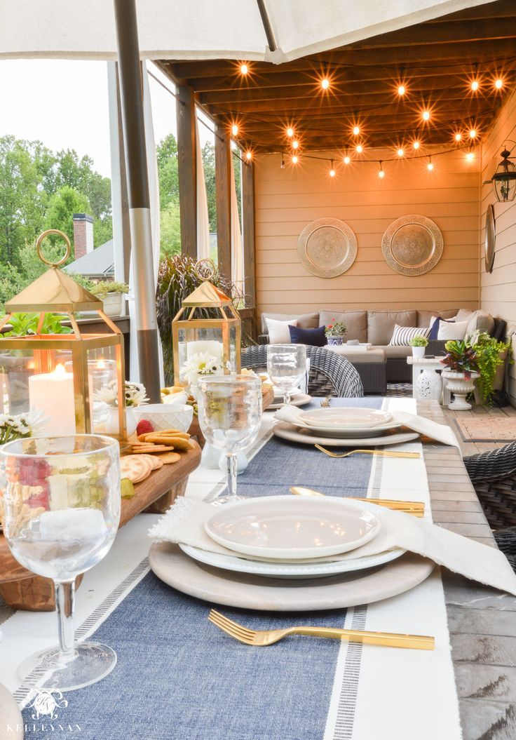 Appetizers And Cheese Boards A Different Centerpiece For Outdoor Dining Kelley Nan Outdoor Deck Decorating Deck Dining Outdoor Living Rooms