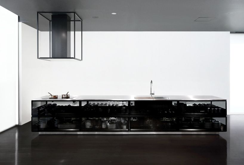 Tokujin yoshioka finesses transparent cookspace for toyo kitchen