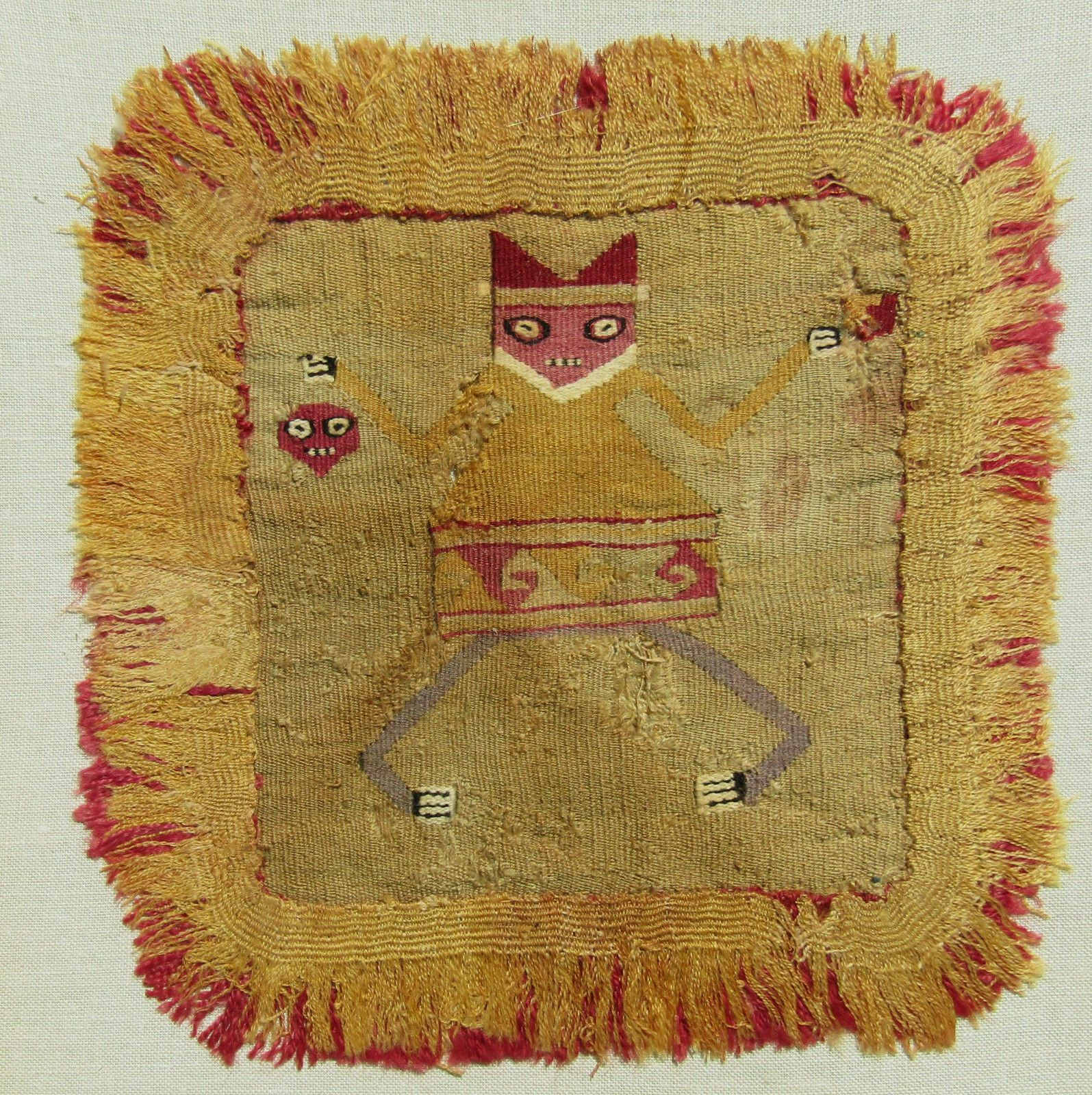 RARE MOCHE, PROTO CHIMU, TAPESTRY, 500-700 AD, PRE COLUMBIAN, BADGE OR HEADDRESS | eBay