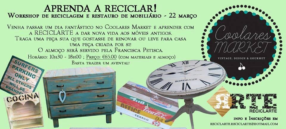 Workshop de reciclagem de mobiliário! Quem quer participar?