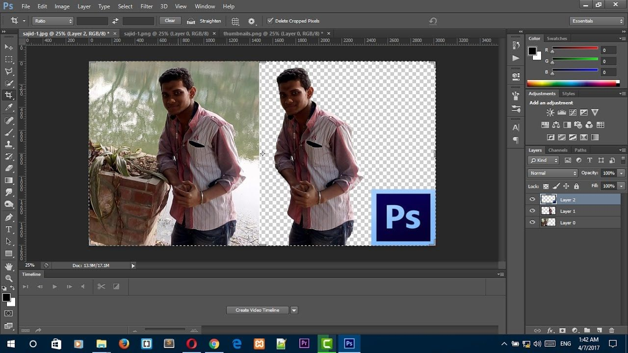 How to remove image background from an image with