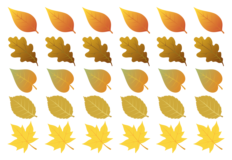 Картинки осенних листьев для вырезания цветные планировали создавать