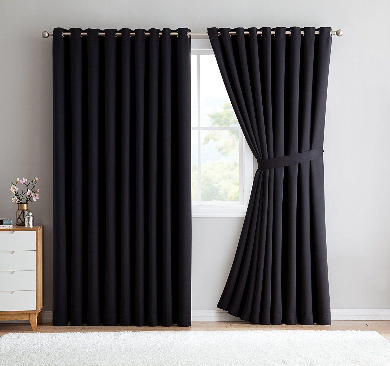 Warm home designs extrawide black patio door curtains u wallto