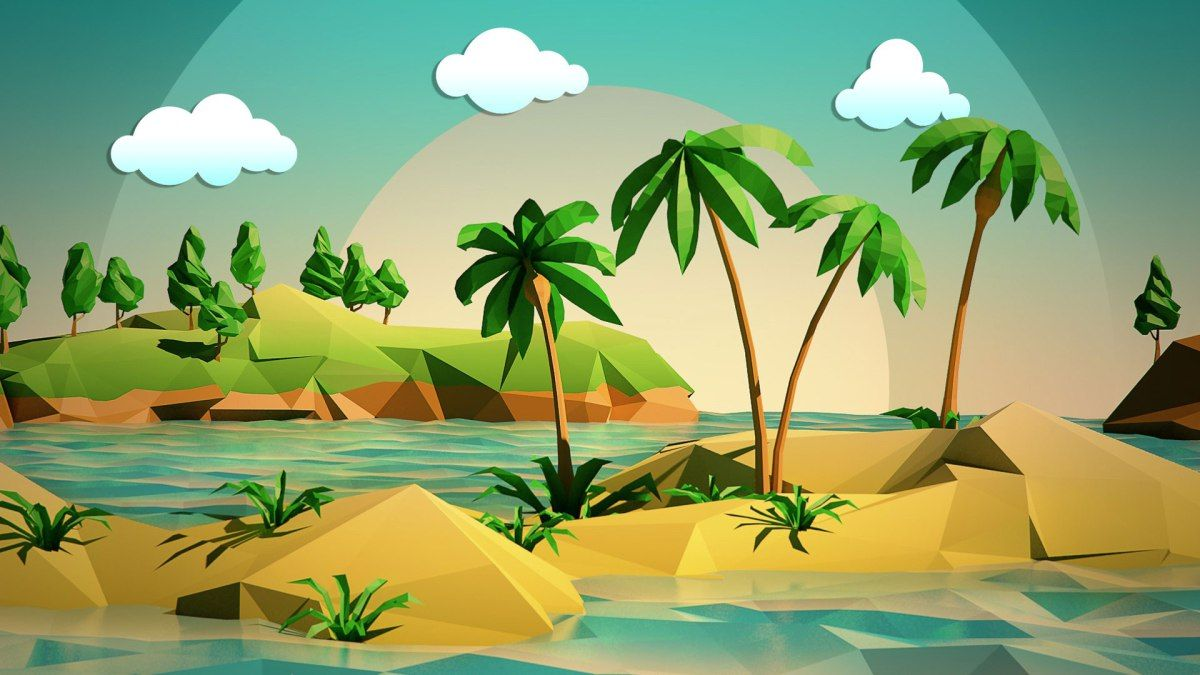 Hd Wallpapers Nature 1920x1080 Download Low Poly Low Poly