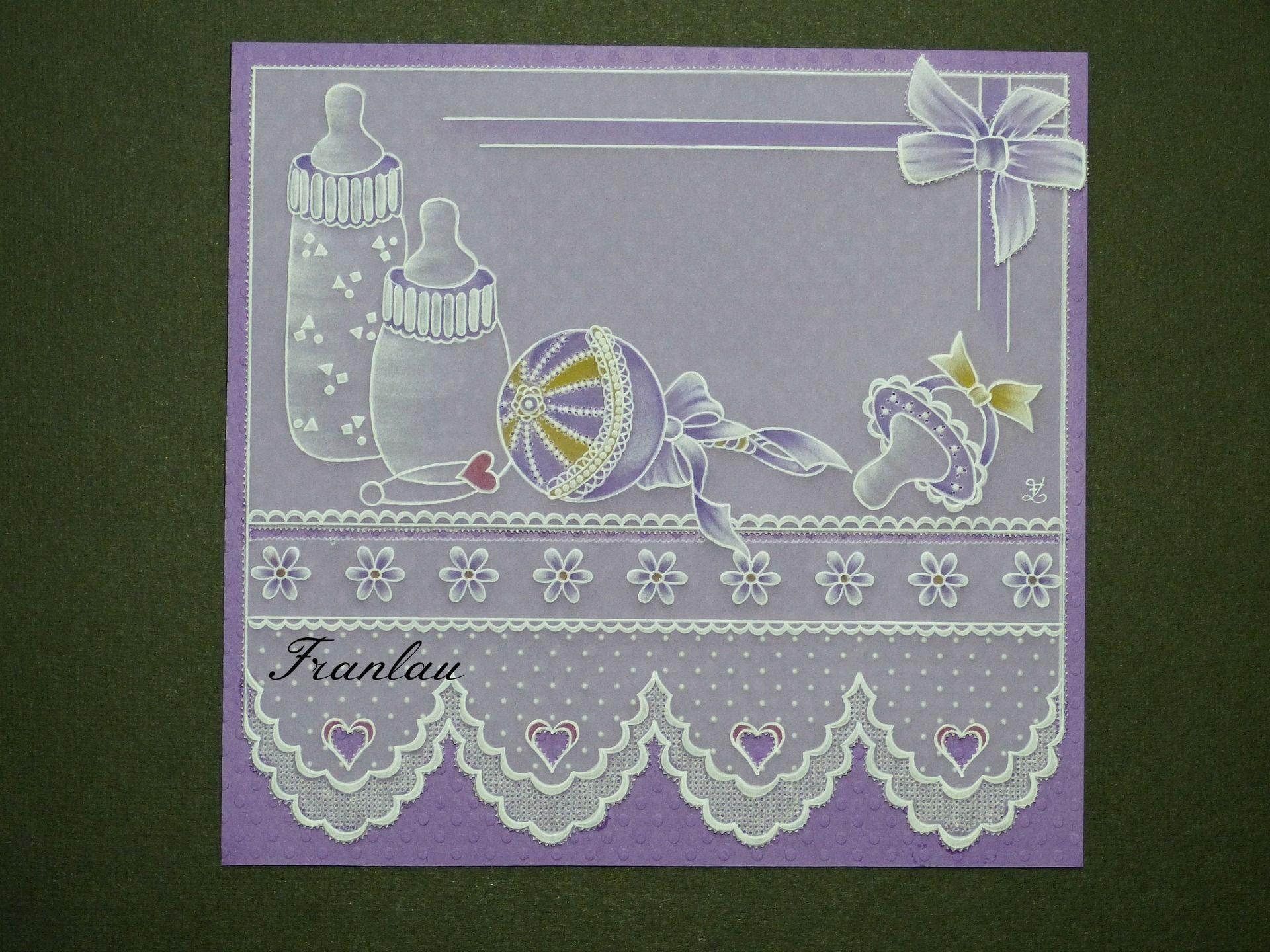 Carte pergamano affaires de b b pour une naissance en for Fleurs pour une naissance