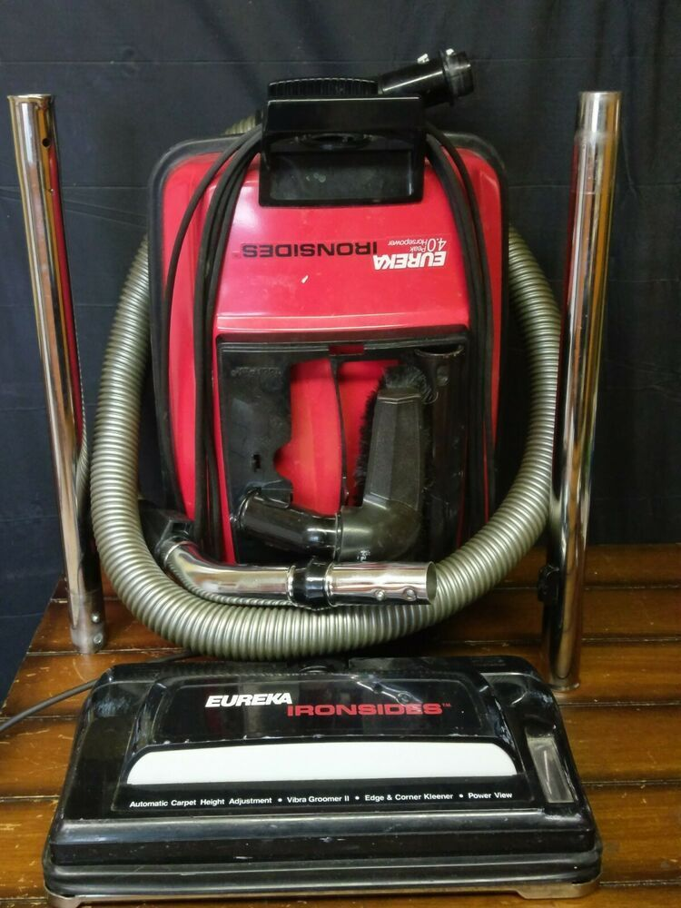 Excellent eureka 1789 ironsides metal canister vacuum