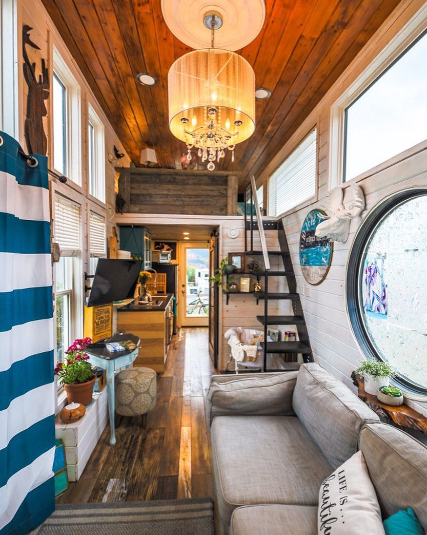 Living Big In A Tiny House On Instagram A Dream Tiny House Check Our The Full Video Tour On Our Yo Tiny House Family Tiny House Bedroom Small House Design