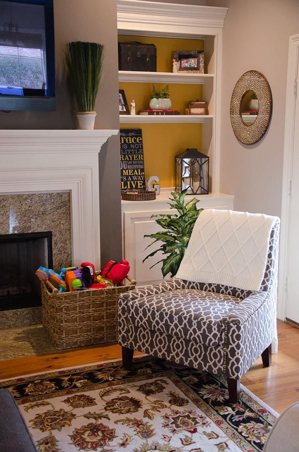 A home tour of how I #PutTogether my family room with my new @SauderUSA Nico Accent Chair  #ad