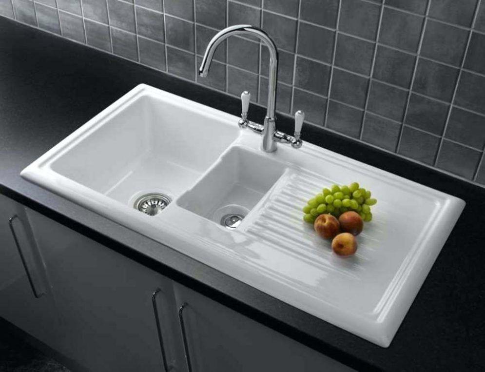 Ivory Ceramic Kitchen Sink
