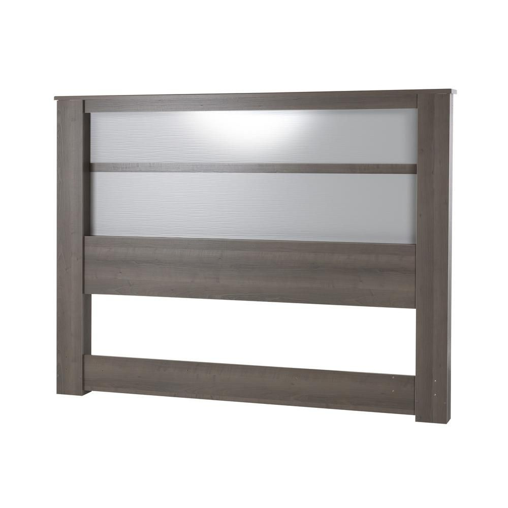 South Shore Gloria Gray Maple King Headboard Headboard With
