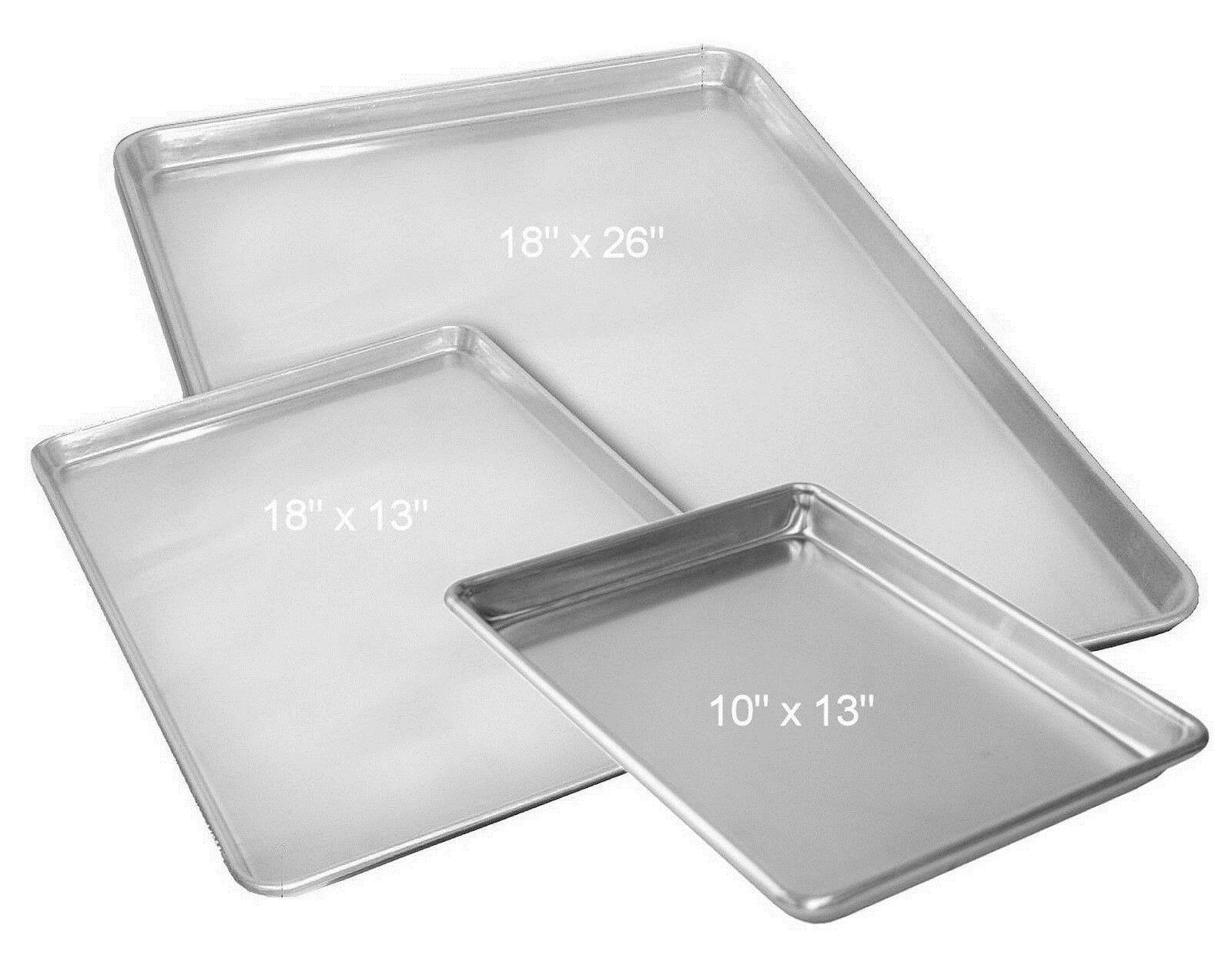 Bakeware 25464 Aluminum Baking Cookie Sheet Bake Pan Quarter Half Full Size 18x26 18x13 10x13 Buy It Now Only 15 85 On Ebay Baking Pans Cookie Sheet Pan