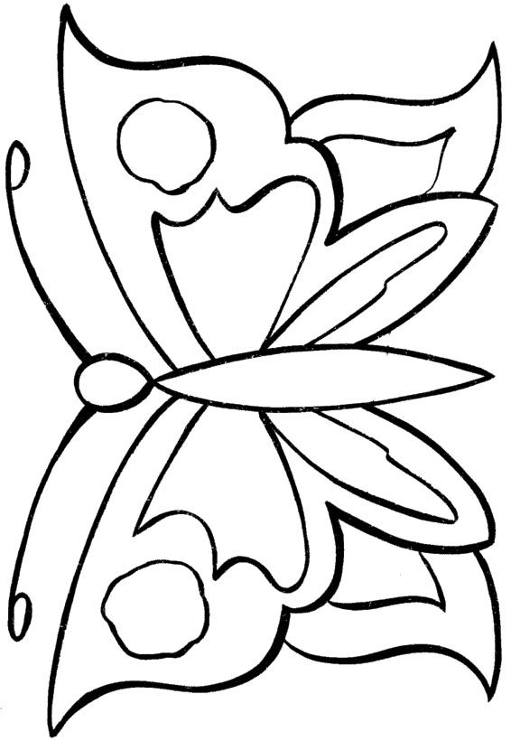 Butterfly Flyes Over The Flowers Butterfly Flyes Coloring Pages