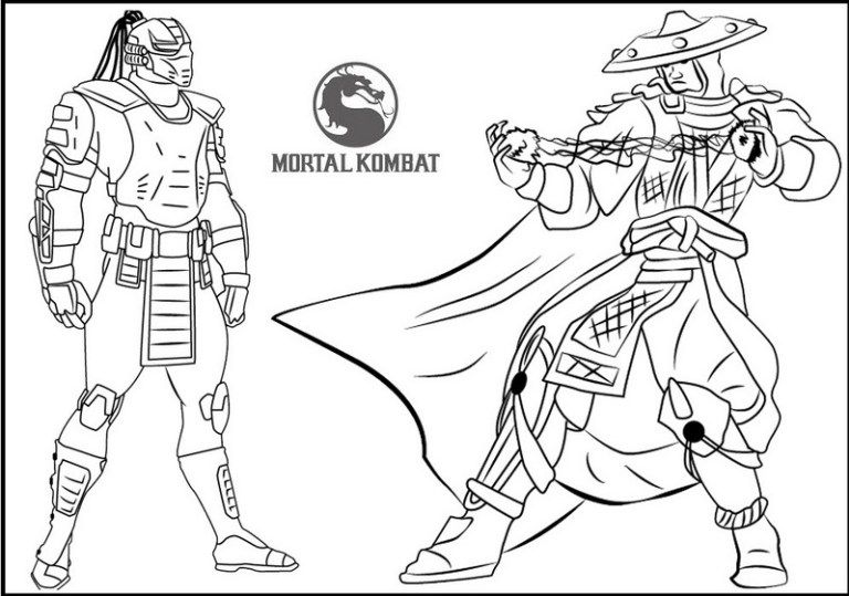 cyrax vs raiden from mortal kombat coloring page mortal kombat coloring pages quote coloring