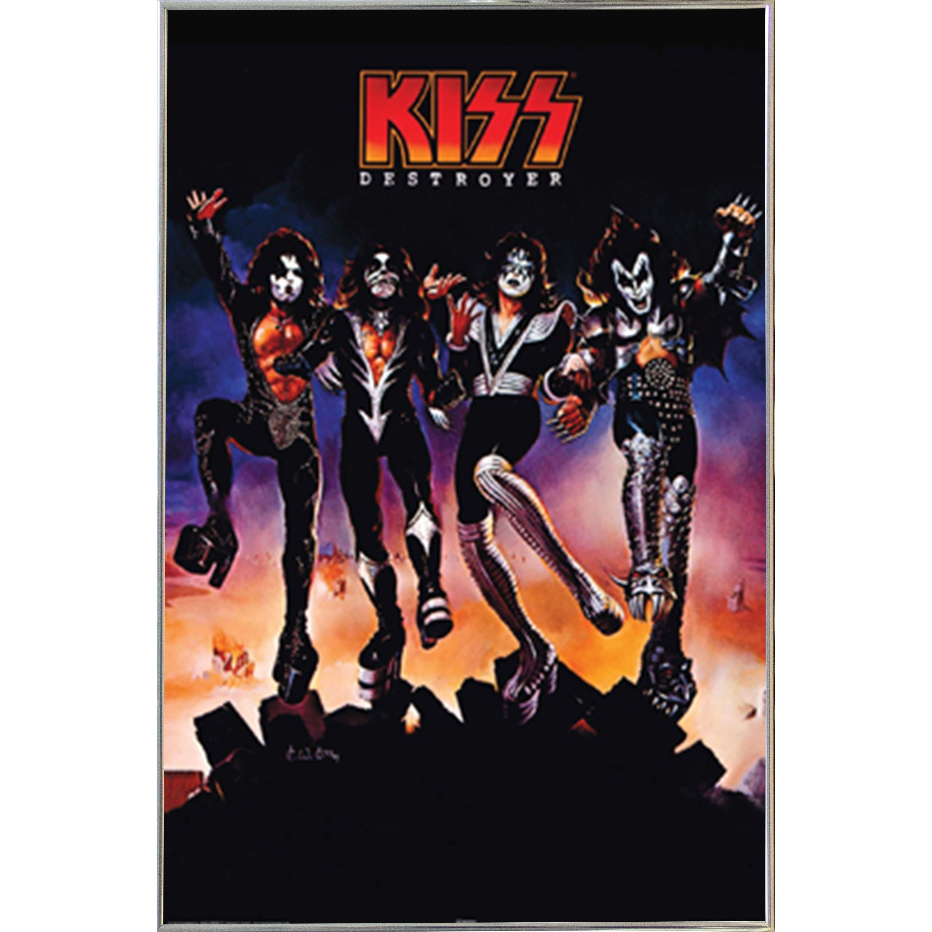 Kiss Destroyer Poster With Choice of Frame | Products | Pinterest