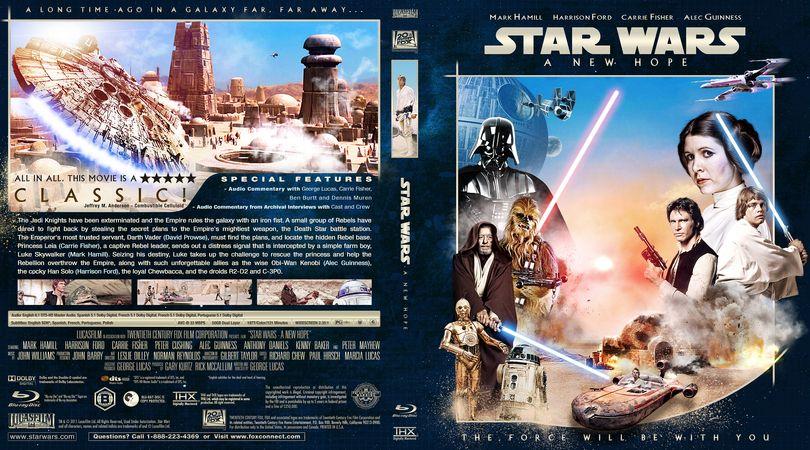 Star Wars Episode Iv A New Hope Blu Ray Custom Cover A New Hope Blu Ray Collection Star Wars