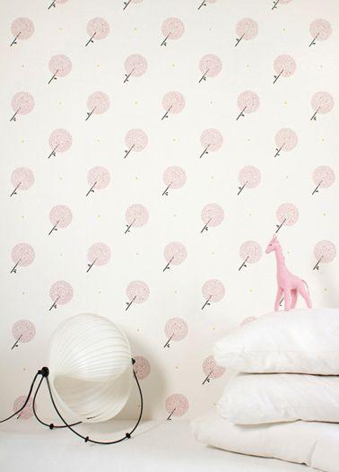 Papier peint design et po tique pour une chambre d 39 enfant inspiration papier peint pinterest - Papier peint chambre bebe fille ...