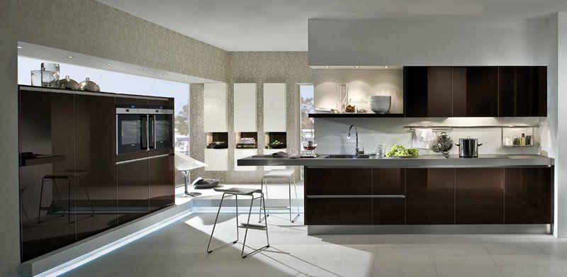 cocina marron37 | Arquitectura moderna y decoracion | Pinterest ...