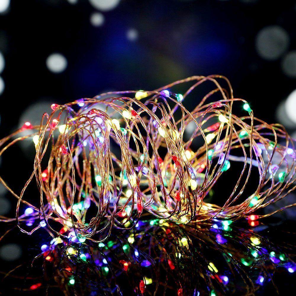 salcar led lichterkette 10 meter 33ft 100 dioden innen au en micro kupfer draht f r weihnachten. Black Bedroom Furniture Sets. Home Design Ideas
