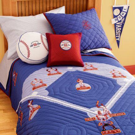Baseball Quilt Great Pillows Too Baseball Quilt