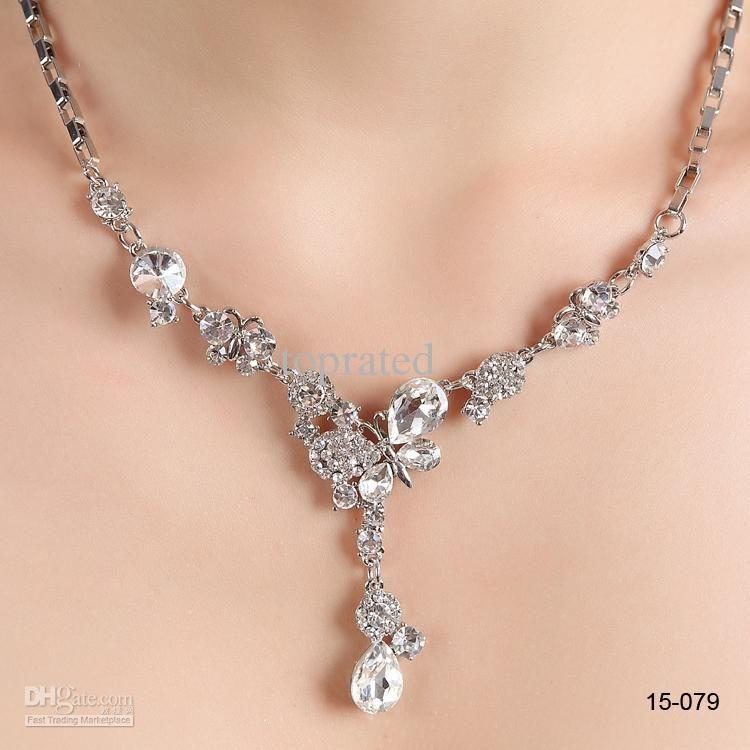 15-081 Chain Women\'s Girl\'s Crystal Diamond Prom Flower Cocktail ...