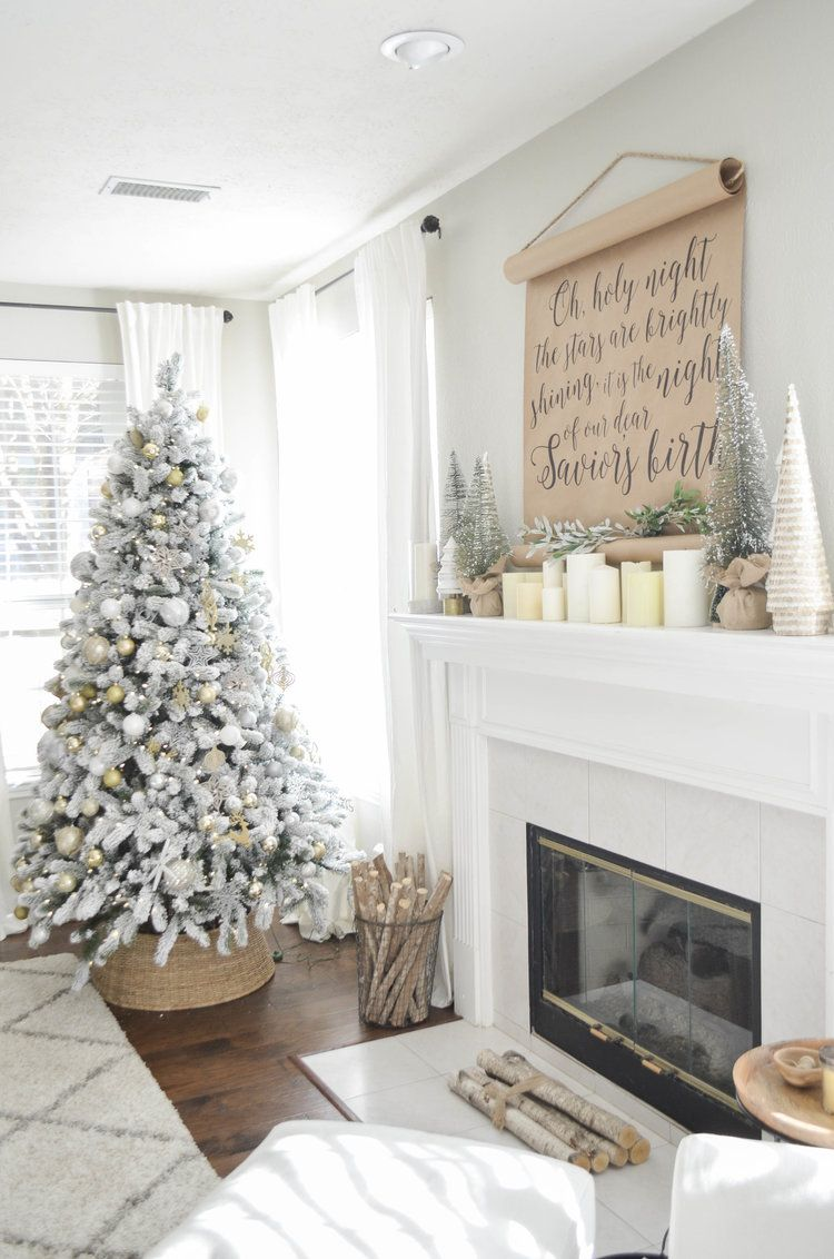 Neutral Christmas Living Room Tour | Julie Warnock Interiors ...