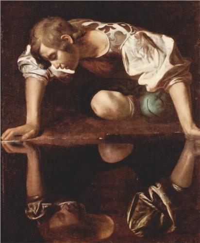 Caravaggio - Narcissus [1599]