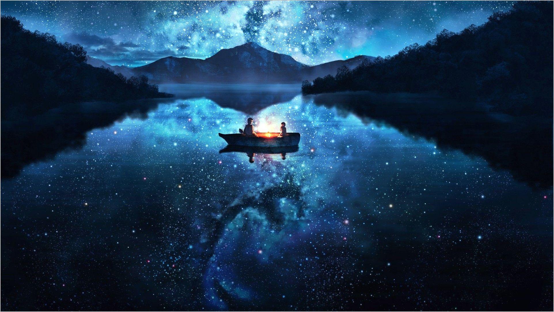 Starry Sky Wallpaper 4k Scenic Wallpaper Anime Wallpaper Wallpaper Backgrounds