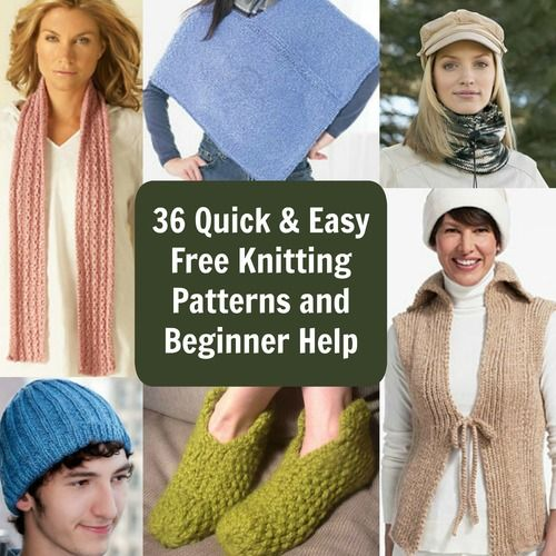 45 Quick and Easy Free Knitting Patterns and Beginner Help ...