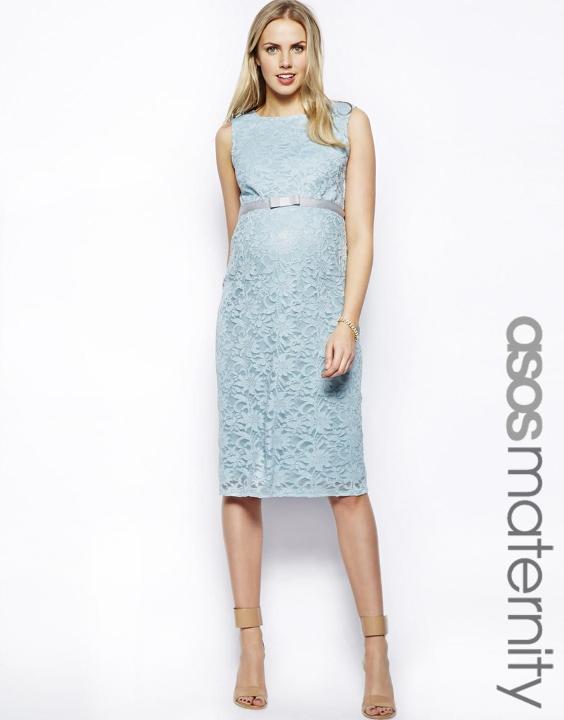 ASOS Maternity Exclusive Lace Body-Conscious Dress With Ribbon ...