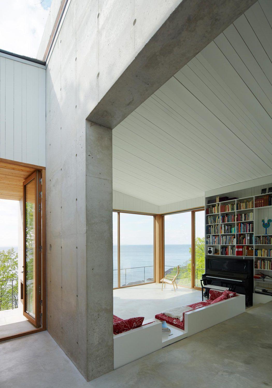 sommer in beton ferienhaus in schweden beton architektur schweden und ferienh uschen. Black Bedroom Furniture Sets. Home Design Ideas